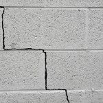 Homebuyers, beware of foundation problems such as cracks in a cinder block building foundation