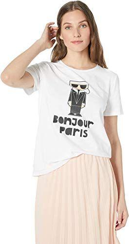 Amazing Offer On Karl Lagerfeld Paris Women S Bonjour Karl Tee Online Favoritetopfashion Women Karl Lagerfeld Paris Clothes