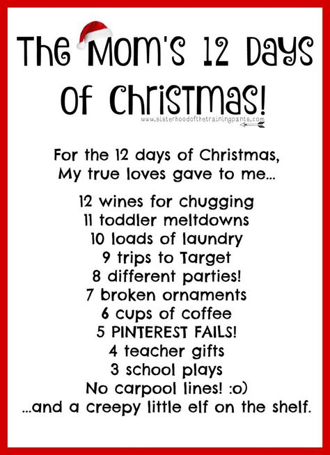 12 Days Of Christmas Gift Ideas The Dating Divas Christmas Countdown Christmas Printables Christmas Time