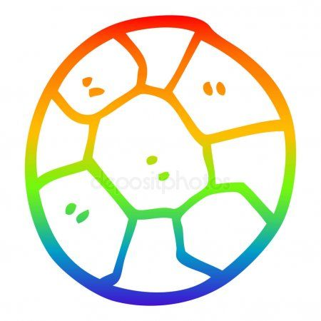 Rainbow Gradient Line Drawing Cartoon Soccer Ball Stock Vector Sponsored Line Drawing Rainbow Gradie Line Drawing Making The Team Cartoon Drawings