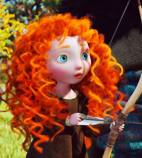 I've always wanted curly hair, but Merida makes me actually consider getting a perm or something.