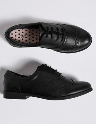 Leather Lace-up Brogues School Shoes
