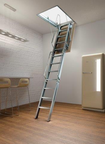 Escalera Para Atico Plegable En Acero Galvanizado Por Electrolisis Attic Stairs Ladder Loft Stairs