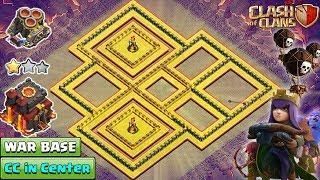 NEW TH10 War Base 2018 Anti Queen Walk | TH10 Base with CC