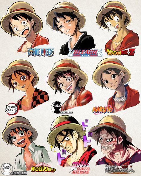 A Lot Of manga And Anime Drawing Styles Otaku Anime, Manga Anime, Anime One, Anime Naruto, Male Manga, Manga Boy, Anime Girls, One Piece Manga, One Piece Fanart