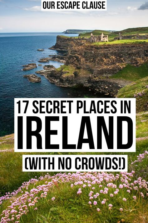17 Secret Places in Ireland (With No Crowds!) 17 Secret Places in Ireland (With No Crowds!) <br> Hoping to explore Ireland off the beaten path? These beautiful hidden gems in Ireland will help you discover uncrowded corners of the Emerald Isle. Ireland Places To Visit, Places In Scotland, Cool Places To Visit, Places To Travel, Travel Destinations, Places To Go, Ireland Destinations, Travel Tips, Travel Packing