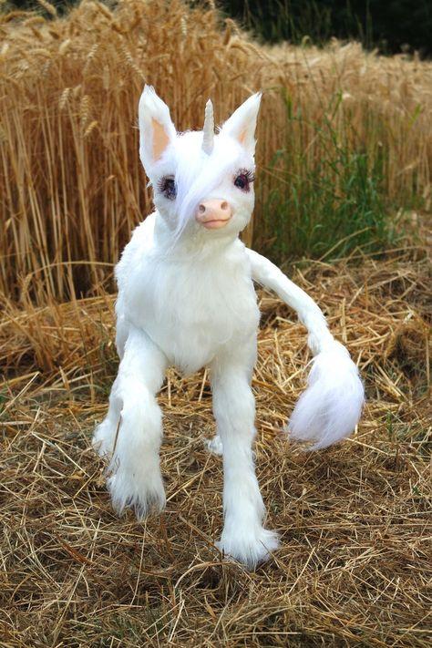 Posable Baby Unicorn Art Doll Handmade   Etsy