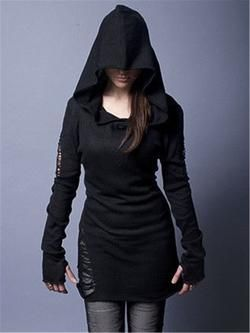 Gothic casual women tops