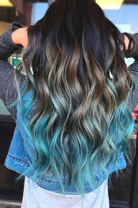 Hair Color Ideas For Brunettes Ombre Hair Color For Brunettes Brunette Hair Color Blue Ombre Hair