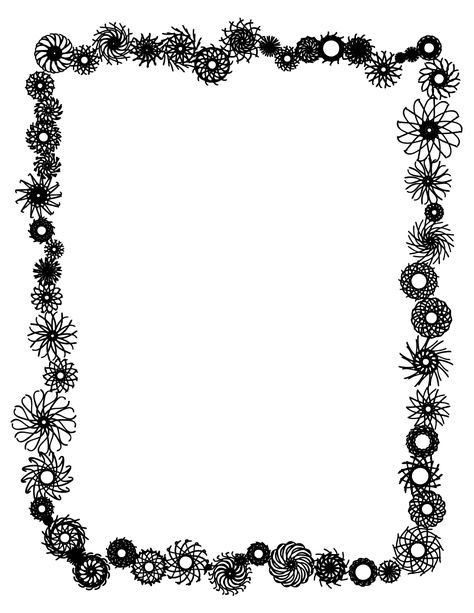Clipart Flower Border Black And White Clipart Panda Free Free Clip Art Flower Border Clipart Frame Clipart