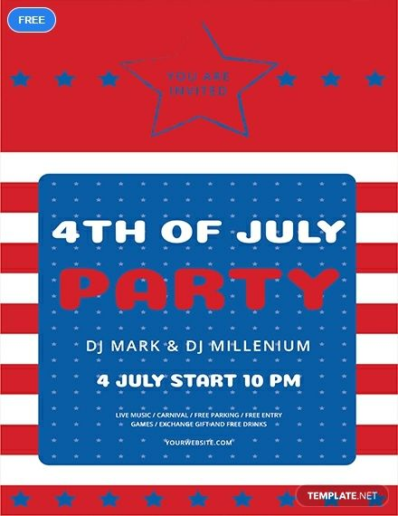 Free 4th of July Flyer Holiday Flyer Templates Flyer template