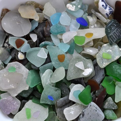 Glass from Lake Superior in the Upper Peninsula, Michigan
