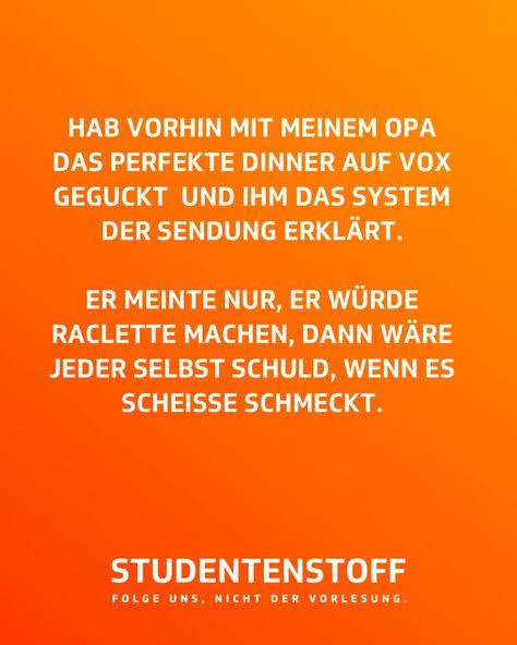 Ein weiser Mann! 😂 #studentenstoff #opa #fernsehen #fernseher #tvgucken #raclette #dasperfektedinner #essen #hunger #schmeckt #studentenstories #jodeldeutschland #universität #studenten #studentenleben #humor #lachen #lustig #witzig #studium #vorlesung #jodelapp #studieren #sprüche #unileben #dualerstudent
