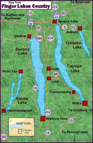 Map Of New York Finger Lakes.Pinterest