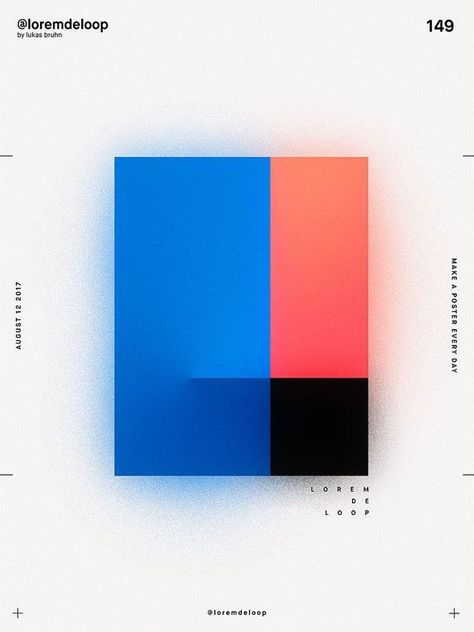 A Poster A Day by Lukas Bruhn aka Lorem De Loop