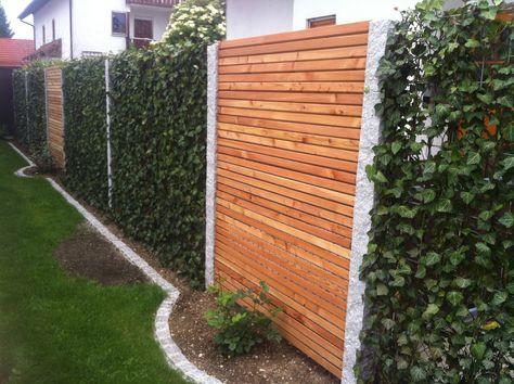 Baustelle von Garten Bronder Hecke am laufenden Meter® \/ Mobilane - sichtschutz holz modern