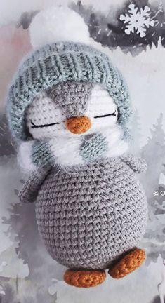 AMİGURUMİ PENGUEN ANAHTARLIK YAPIMI (crochet making a penguin ... | 432x235