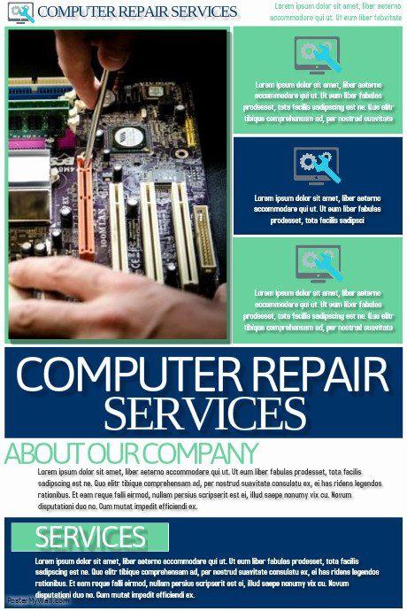 Computer Repair Checklist Template Inspirational Puter Repair Services Template Flyer Template Computer Repair Services Computer Repair