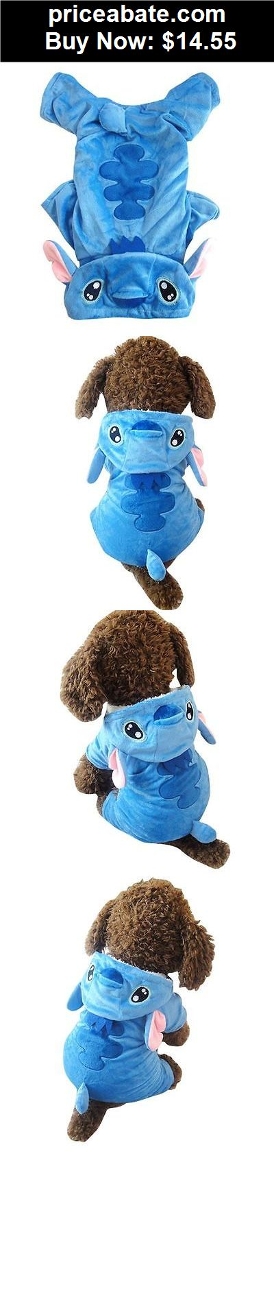 Animals-Dog: Stitch Costume Fleece Coat Jacket Hoodie Pet Cat Puppy Small Dog Clothes Blue - BUY IT NOW ONLY $14.55