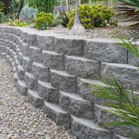 Beautiful Stone Retaining Wall Made From Natural Stone Landscaping Retaining Walls Concrete Garden Stone Landscaping
