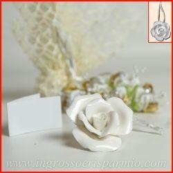 Segnaposto Matrimonio Rosa.Segnaposto Matrimonio Economico Appendino Rosa Ceramica Bianca