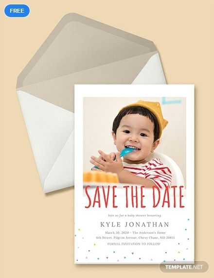 An Adorably Designed Invitation Template You Can Download For Free This I Save The Date Invitations Save The Date Templates Free Birthday Invitation Templates