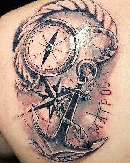 Tatuajes De Anclas 237 Fotos Significado Hombre Mujer Tatuajes De Anclas Tatuajes Brujula Tatuaje De Flecha Y Brujula