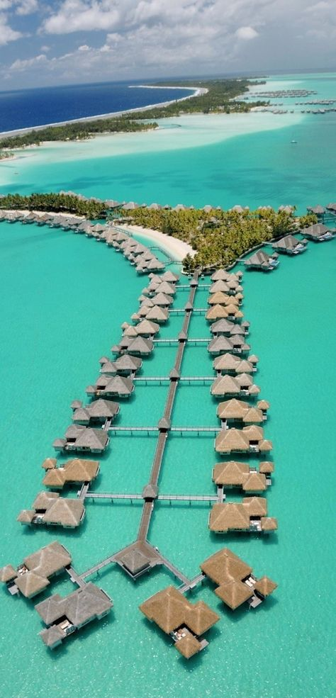 50 Exotic Hotels Around The World The St Regis Resort in Bora Bora is home to some of the most luxurious overwater bungalows in the world. | boraboraphotos.com