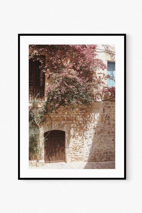 Mediterranean Spain Village Summer Travel Wall Art Printable Photo
