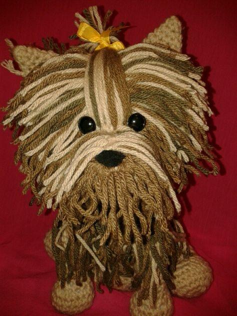 Amigurumi Crochet Yorkshire Terrier Dog Free Pattern - Amigurumi ... | 632x474