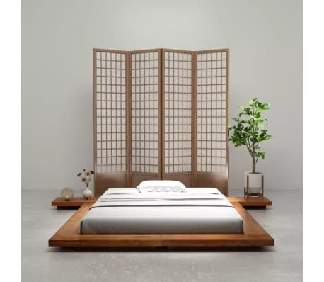 Vidaxl Japanese Style Futon Bed Frame Solid Wood Sheesham Finish