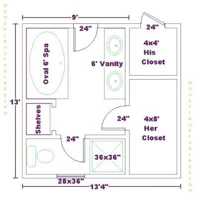 Master Bathroom Floor Plans With Walk In Closet Master Closet Layout Master Bathroom Layout Bathroom Floor Plans