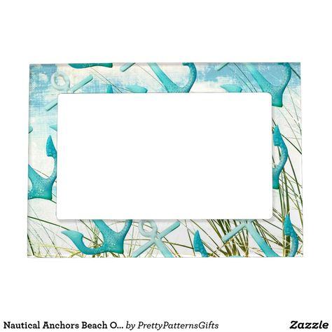 Nautical Anchors Beach Ocean Seaside Coastal Theme Magnetic Picture ...