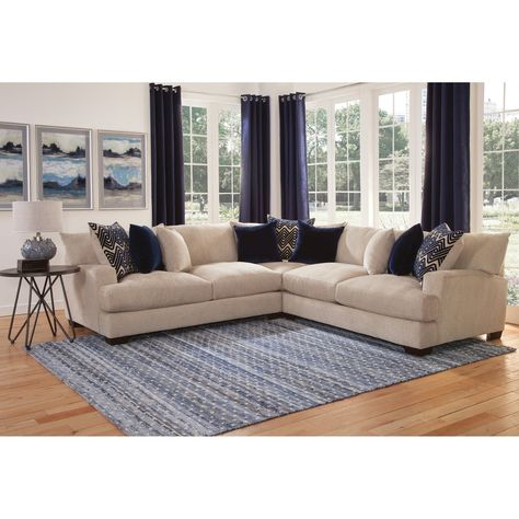 Granger Beige 3 Piece Sectional By Greyson Living Furniture 3
