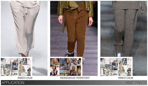 Women's key items fw 2015-16, Knit Pants