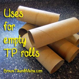 for Empty TP Rolls Don't recycle your empty TP rolls--reuse them! Here are a bunch of ideas to get you started.Don't recycle your empty TP rolls--reuse them! Here are a bunch of ideas to get you started.