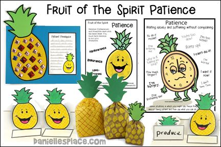 Fruit Of The Spirit Patience Bible Lesson With Crafts And