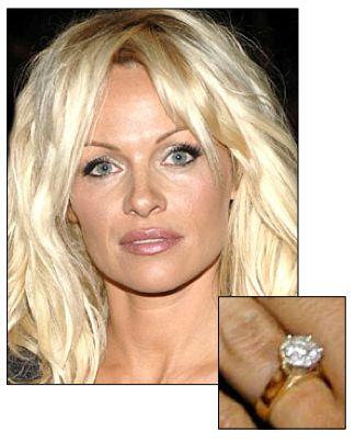 Pamela Anderson Engagement Ring