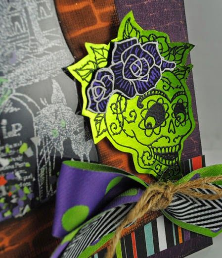 The Pampered Stamper: Stampendous: Shaking It Up With Skulls and Skeletons