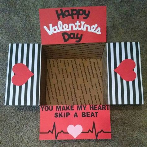 Valentines Day Gifts : Care Package box kit Valentines day by BekProductions on Etsy