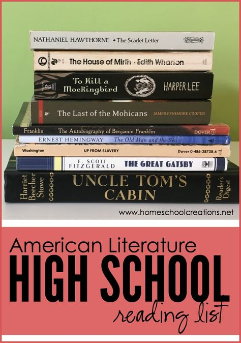 American Literature high school reading list