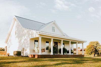 Plan 77640fb Bright And Airy Country Farmhouse Farmhouse House Farmhouse Design House Exterior
