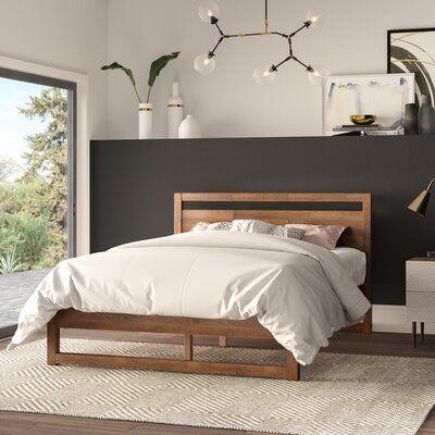 Ellerbe Mid Century Modern Platform Bed for Mid Century Modern Bedroom - Home Design Ideas Modern Bedroom, Modern Platform Bed, Mid Century Modern Platform Beds, Home Bedroom, Bedroom Interior, Bedroom Design, Luxurious Bedrooms, Bedroom Decor, Modern Bed