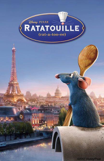 Ratatouille. Ou comment une souris peut aider un jeune à devenir cuisinier dans un restaurant en transmettant la recette de la ratatouille.