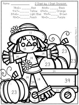 Long Division Color By Number Fall Themed Do Your Students Need A Little Extra Practice With Lon Bible Study For Kids Halloween Worksheets Thanksgiving Writing