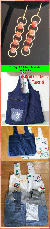 Eco Bag of Old Jeans Tutorial - handmadiya #Bag #Eco #handmadiya #Jeans #Tutorial