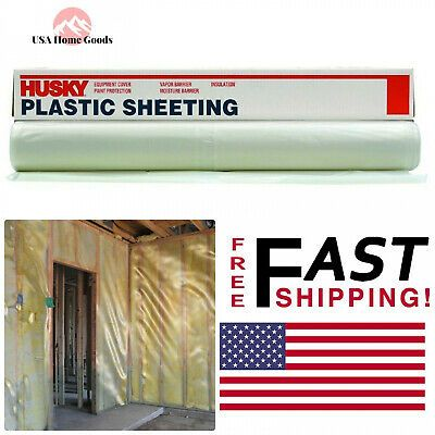 Clear Polyethylene Plastic Sheeting 12 Ft X 50 Ft 6 Mil Thickness Plastic Film In 2020 Plastic Film Clear Plastic Sheets Polyethylene