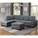 Piece Sectional Sofa Microfiber