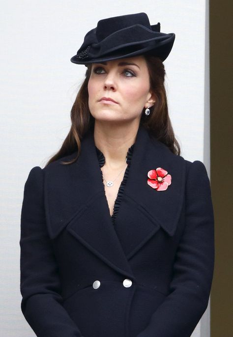 Pin for Later: The Duchess of Cambridge Didn't Wear a Single Bad Outfit This Year She Looked Somber in Alexander McQueen During Remembrance Sunday Service