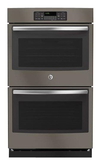 Ge 30 Built In Double Electric Wall Oven Slate Larger Front Trendy Kitchen Backsplash Kitchen Layout Plans